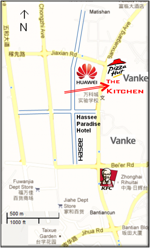 map the kitchen bantian