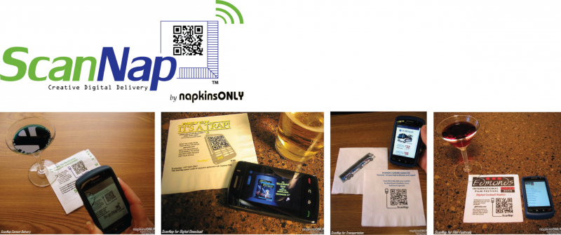 printed cocktail napkins, qr codes, printed beverage napkins, promo napkins