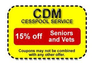 CDM Cesspool Service Coupon
