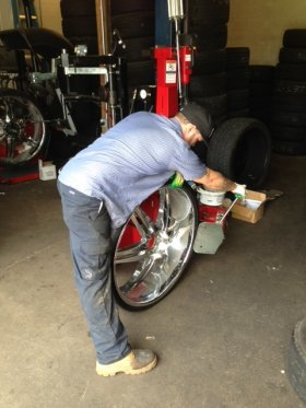 Installing Tire on Rim