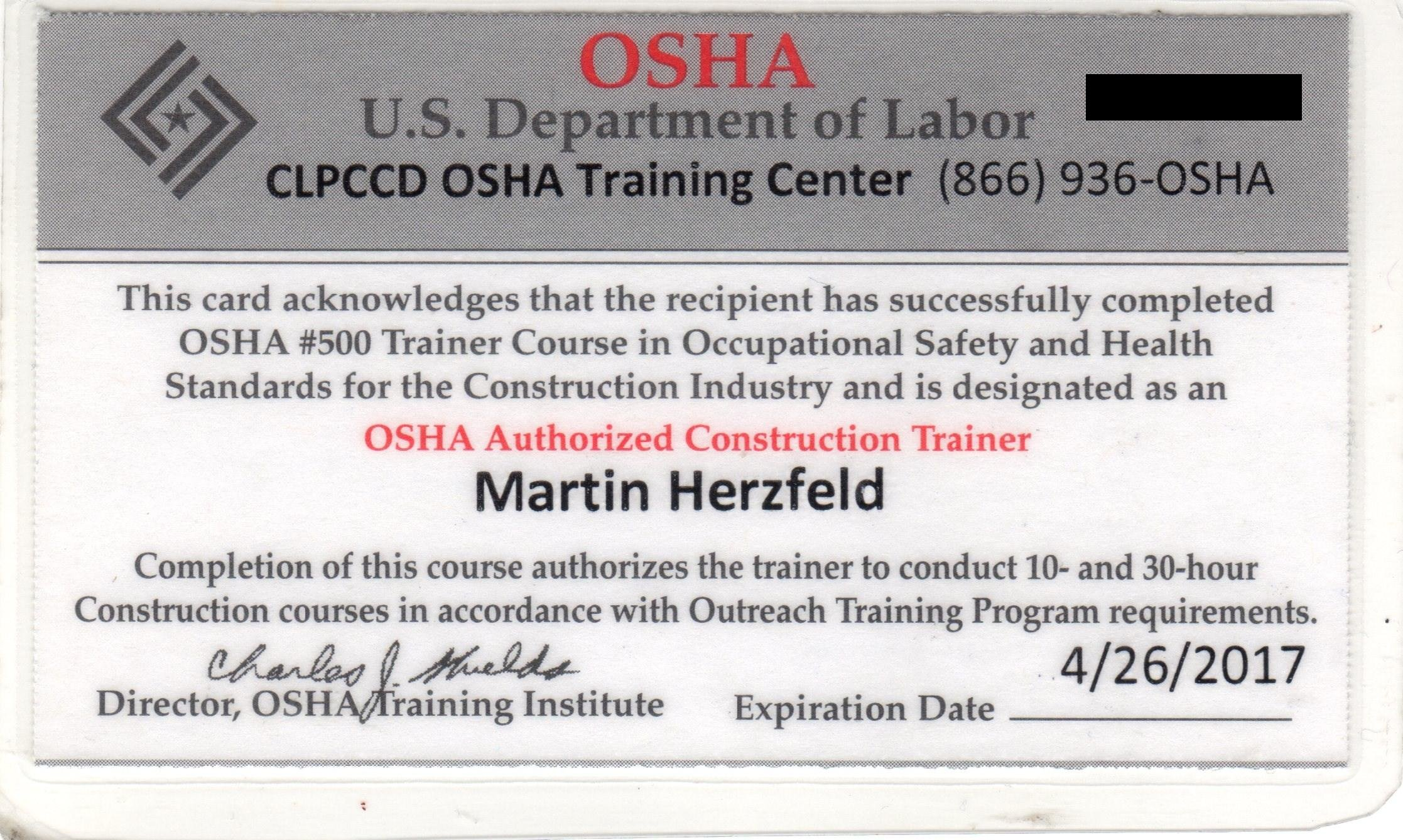 Licensed solar contractor project consultant licensed for Osha 10 certificate template