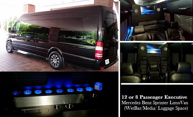 Atlanta 8 Passenger Mercedes Sprinter Limo Rental