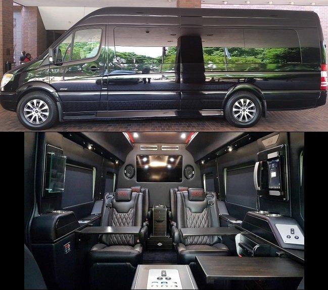 Atlanta Limo Party Bus Rental Luxury Sprinter VanMinibus Rental - Mercedes benz limo bus