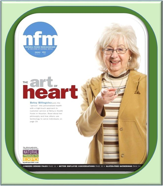 Betsy's Health Foods on National Magazine Cover