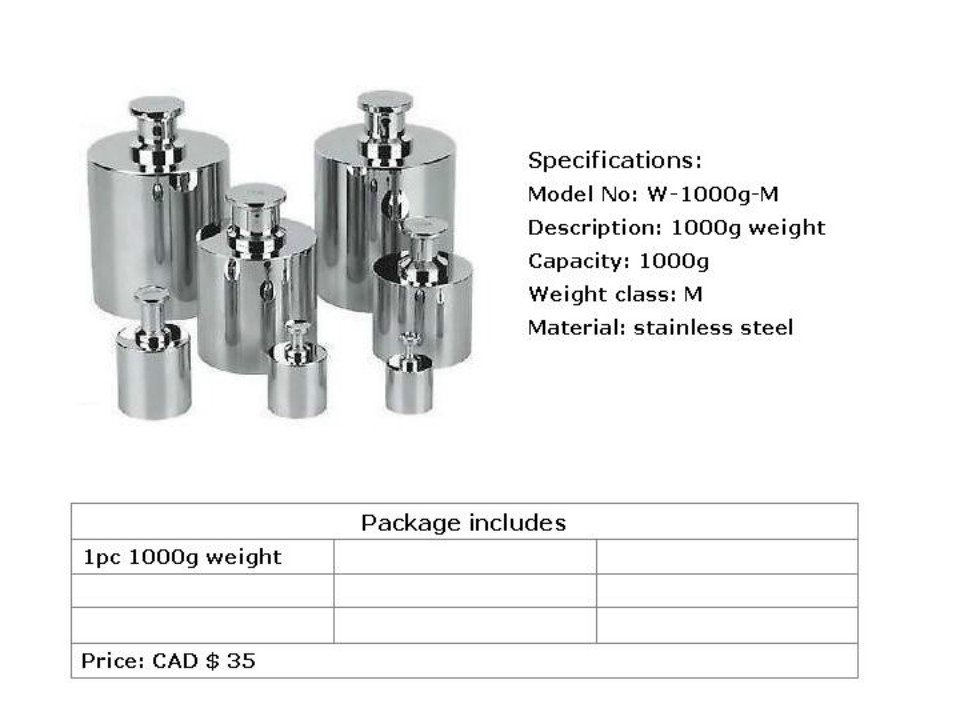 calibration weight--1000g