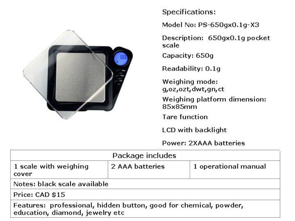 cheap pocket scale- 650gx0.1g