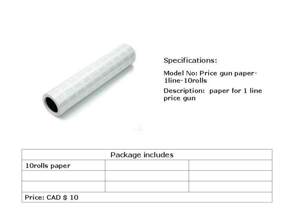 price gun paper