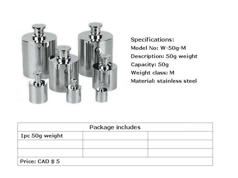 calibration weight-50g