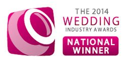 Wedding Industry Award winner 2014