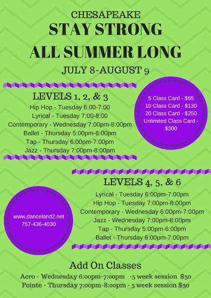Chesapeake, VA summer dance programs