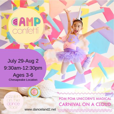 Chesapeake, Virginia - Camp Confetti summer dance program