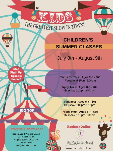 Summer dance camps and classes - Chesapeake, VA