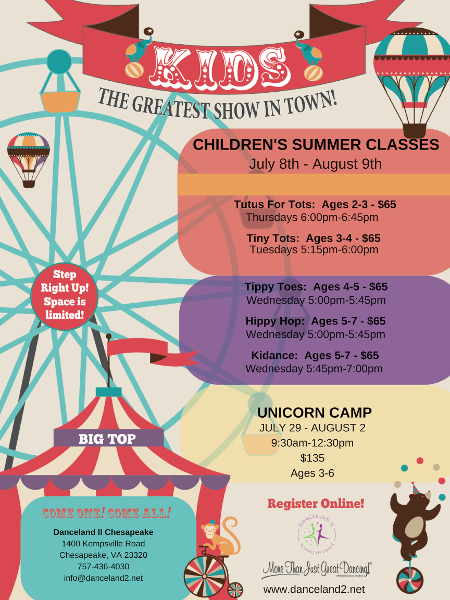 Summer dance camps and classes at Chesapeake, VA