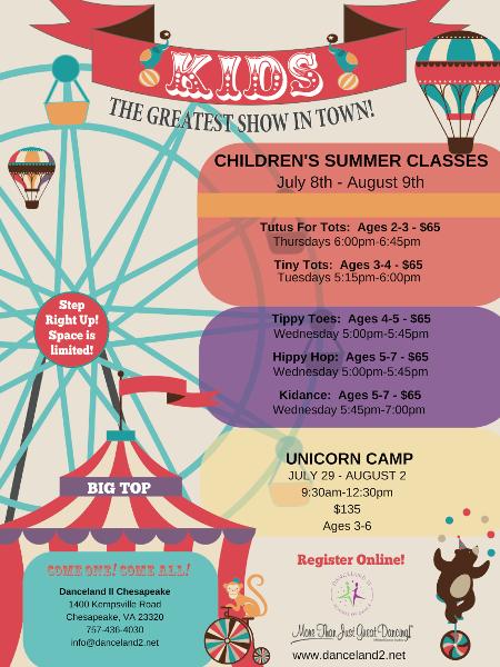 Summer dance camps and classes at Chesapeake, VA