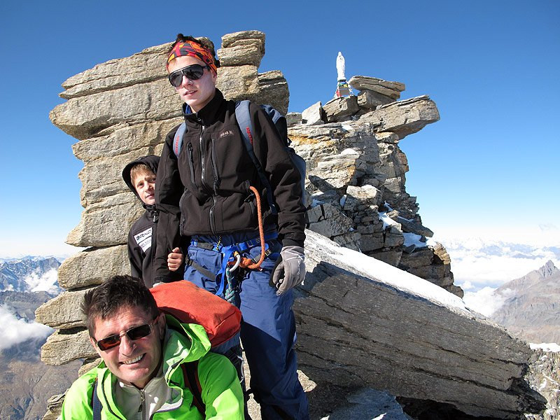 On the top of Gran Paradiso