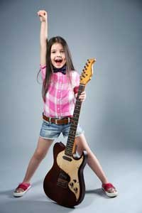 Girl With Brown Guitar