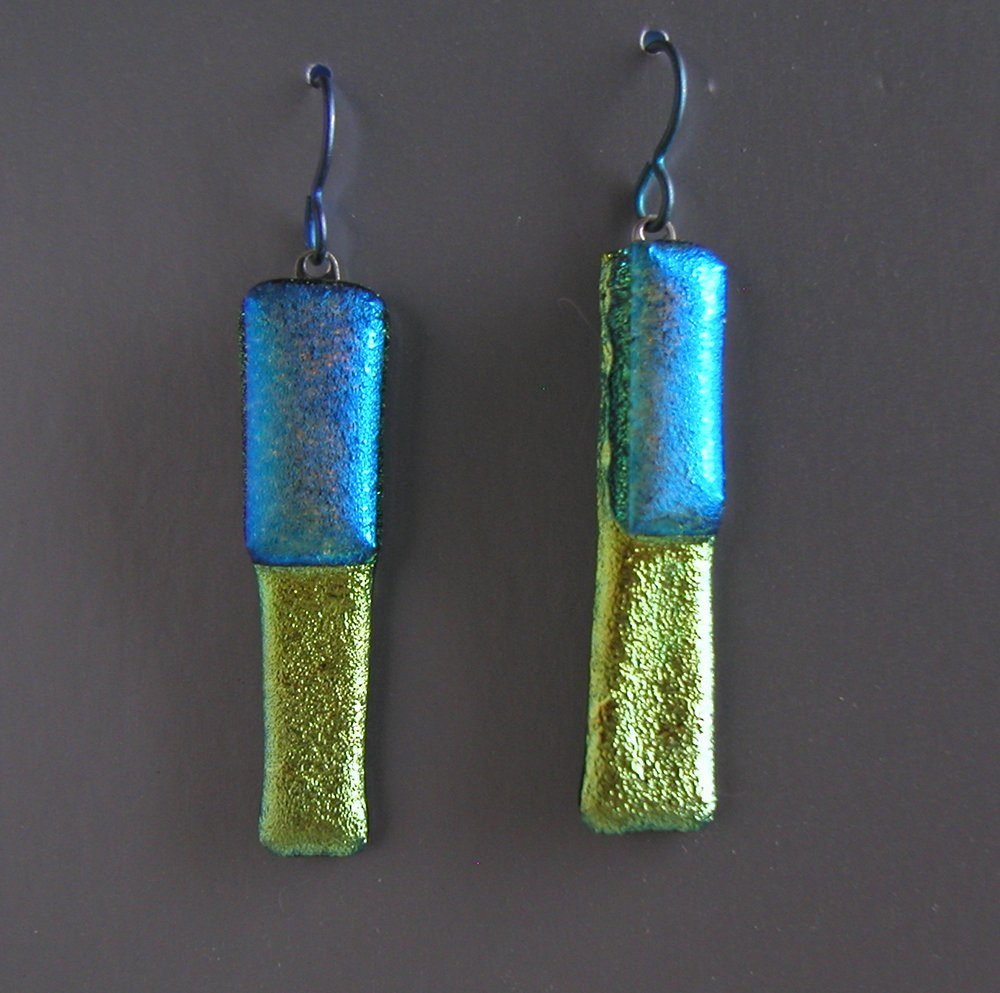 blue green set earrings