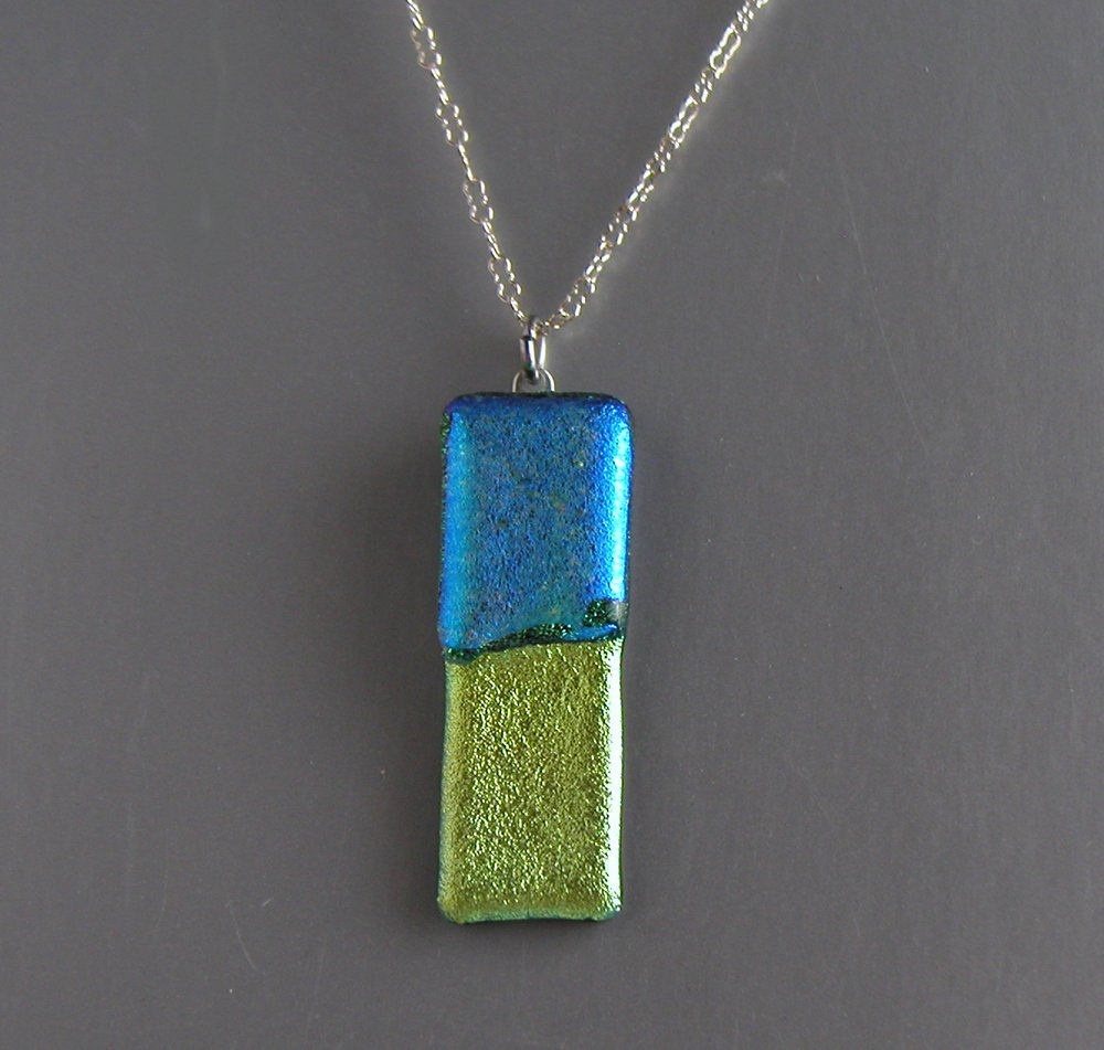 blue green set necklace