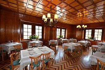 Il ristorante dell'Hotel Italia al Colle del Gran San Bernardo