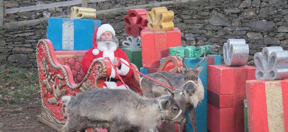 Babbo Natale con le renne