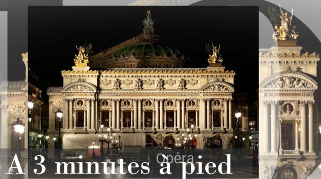 3 minutes à pied de l'Opéra Garnier