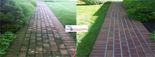 Michigan Pressure Washing - Paver patio and walkway cleaning
