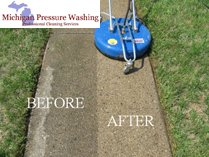 walkway, driveway, patio cleaning Michigan Pressure Washing