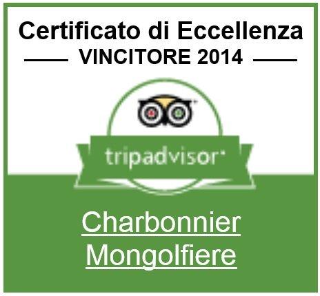Certificato di Eccellenza Tripadvisor - Charbonnier Mongolfiere