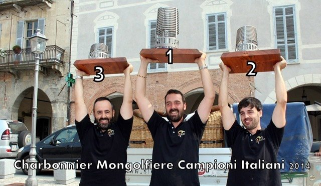 Vola col team Vincente vola con mongolfiere.it campioni italiani 2014 : 1°,2°e 3° classificato
