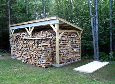 Concrete Pad Firewood Shed