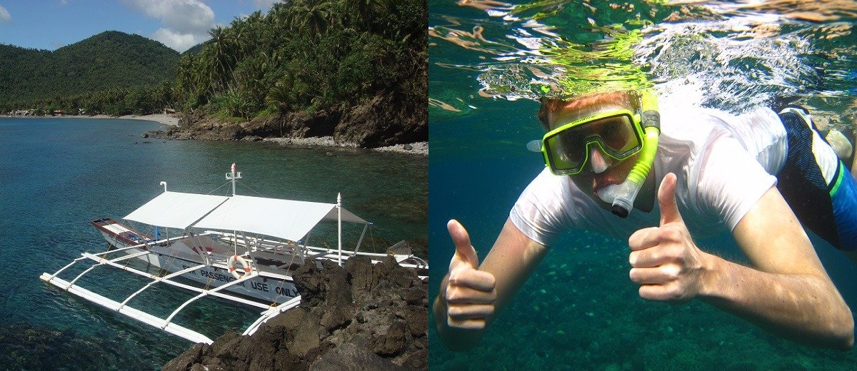 Boat & snorkeler