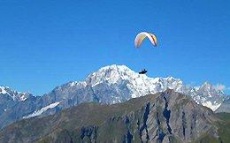Sito di volo di La Salle: al cospetto del Monte Bianco