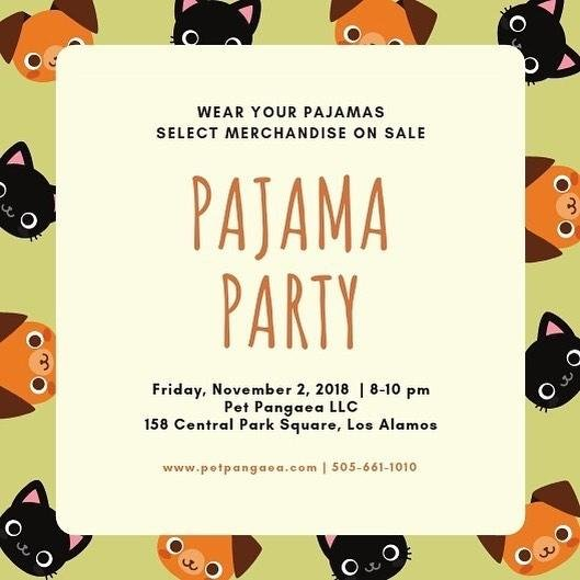 Pajama Party Nov 2, 8-10pm