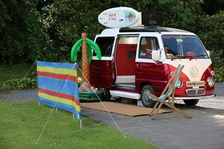 Camper photo booth hire
