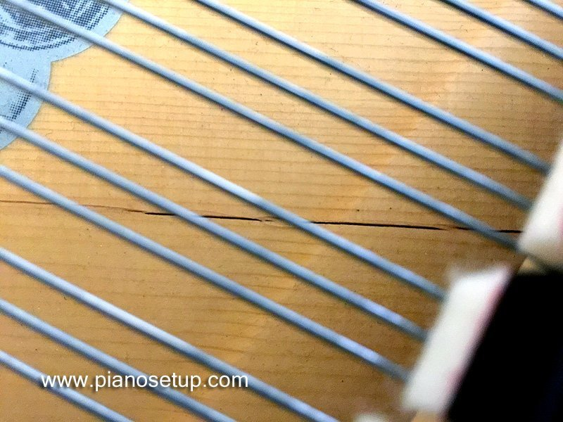 Cracked Soundboard