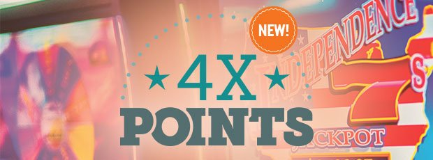 4X Points on Tuesday, February 13 and Monday, February 19