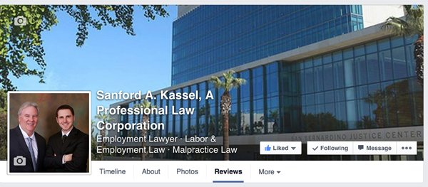 SANFORD A. KASSEL, A Professional Law Corportion    Facebook Cover