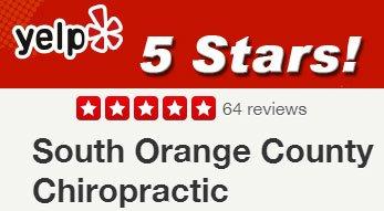 Orange County Chiropractor Yelp 5 Star Rating