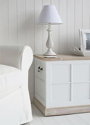 Vermont small trunk for living room furniture from The White Cottage Furniture