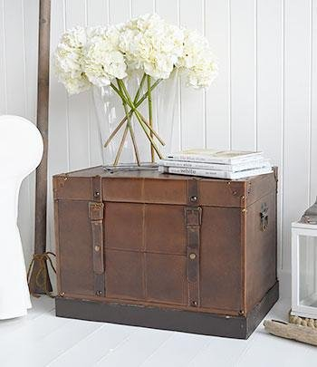 Panama Storage trunk for living room side table furniture