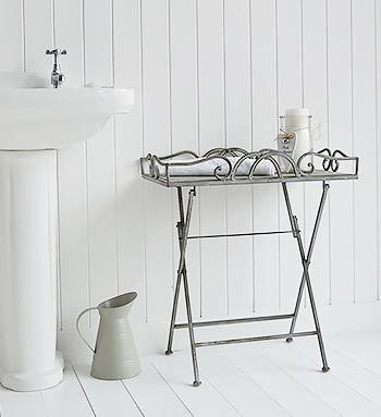 Grays wood folding table for bathroom furniture