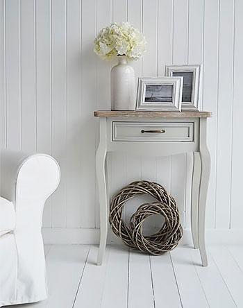 White Cottage Furniture - Bridgeport Grey Table for living room furniture