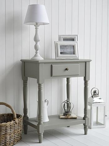 Charleston French Grey Table for living room lamp table