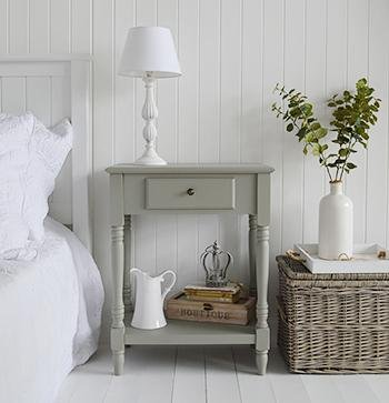Charleston French Grey Table for bedside table in cottages