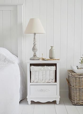 The White Cottage Rose Cabinet with 2 drawers