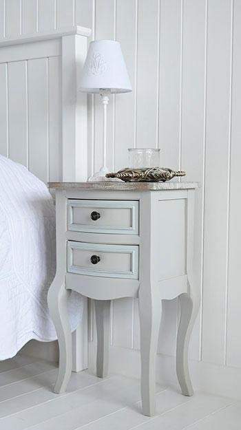 The White Cottage Furniture - Bridgeport Grey bedside table with drawers