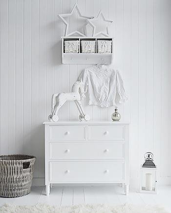 The White Cottage Hallway Furniture New England white chest of drawers