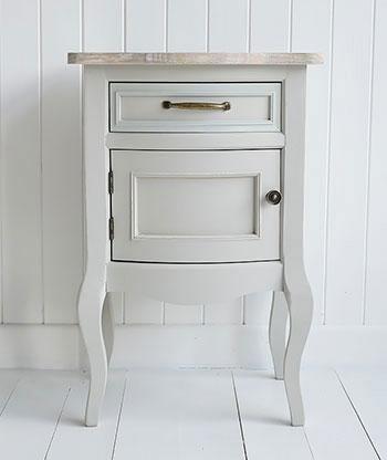 Bridgeport Grey Bedside Lamp Table for living room furniture