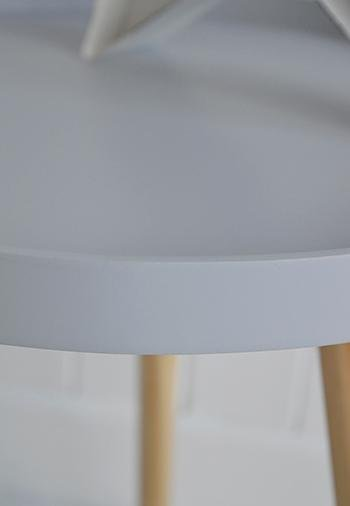 The White Cottage Furniture Portland grey scandi style side drinks table