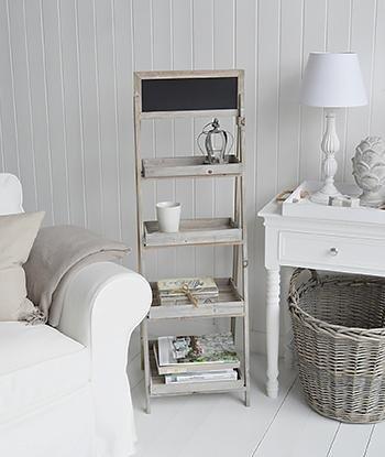 Montauk Wooden Shelf - Shelves for living room furniture